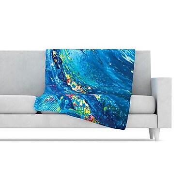 KESS InHouse Big Wave Fleece Throw Blanket; 80'' L x 60'' W