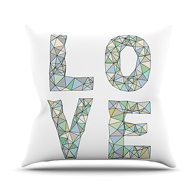 KESS InHouse Four Letter Word Throw Pillow; 18'' H x 18'' W
