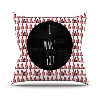 KESS InHouse I Want You Throw Pillow; 20'' H x 20'' W