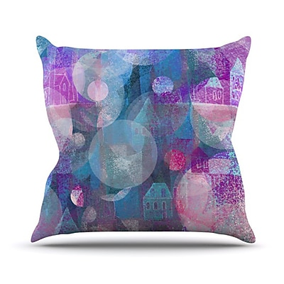 KESS InHouse Dream Houses Throw Pillow; 20'' H x 20'' W