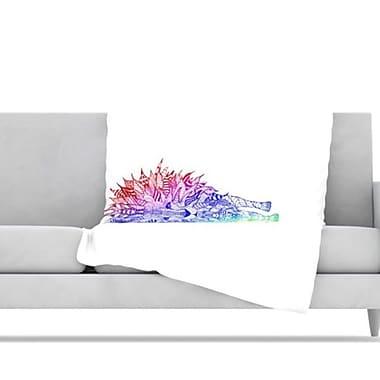 KESS InHouse Rainbow Lion Fleece Throw Blanket; 80'' H x 60'' W