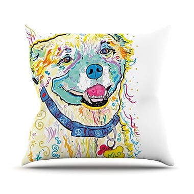 KESS InHouse Milo Throw Pillow; 18'' H x 18'' W
