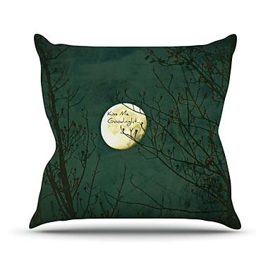 KESS InHouse Kiss Me Goodnight Throw Pillow; 16'' H x 16'' W