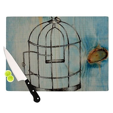 KESS InHouse Bird Cage Cutting Board; 11.5'' H x 8.25'' W x 0.25'' D