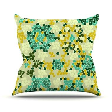 KESS InHouse Flower Garden Mosaic Throw Pillow; 18'' H x 18'' W
