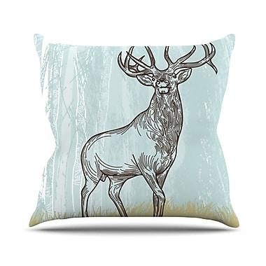 KESS InHouse Elk Scene Throw Pillow; 18'' H x 18'' W