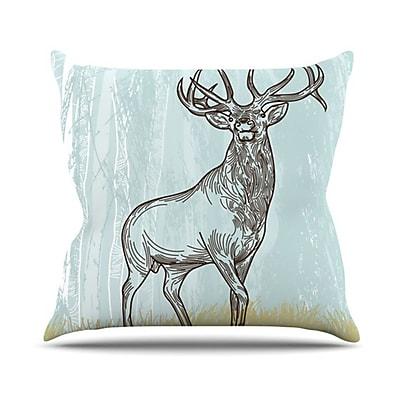 KESS InHouse Elk Scene Throw Pillow; 26'' H x 26'' W
