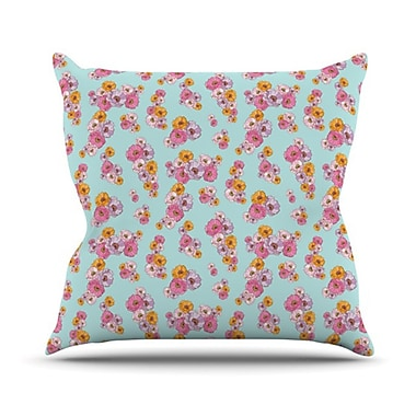 KESS InHouse Paper Flower Throw Pillow; 26'' H x 26'' W
