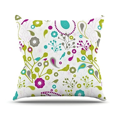 KESS InHouse Bird Fantasy Throw Pillow; 26'' H x 26'' W