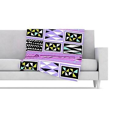 KESS InHouse American Blanket Pattern II Fleece Throw Blanket; 40'' L x 30'' W