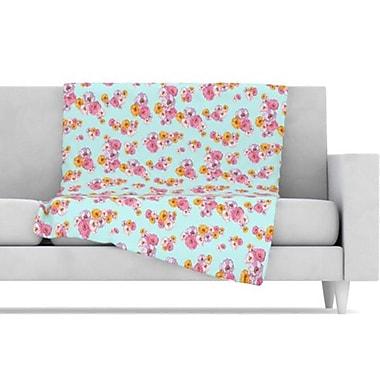 KESS InHouse Paper Flower Fleece Throw Blanket; 60'' L x 50'' W