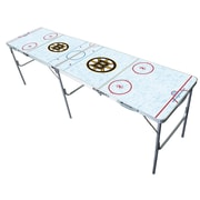 Tailgate Toss NHL 2'' x 8'' Tailgate Table; Boston Bruins