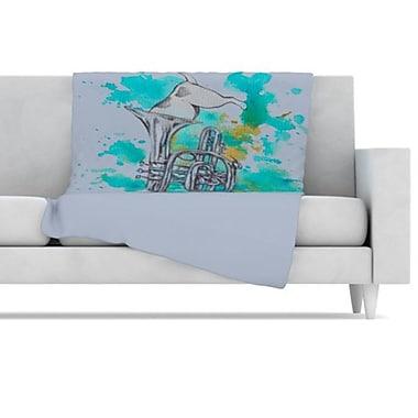 KESS InHouse Hunting for Jazz Fleece Throw Blanket; 40'' L x 30'' W