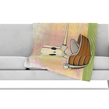 KESS InHouse Drifting Fleece Throw Blanket; 80'' L x 60'' W