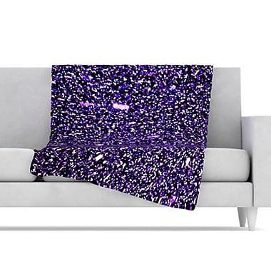 KESS InHouse Purple Dots Fleece Throw Blanket; 40'' L x 30'' W