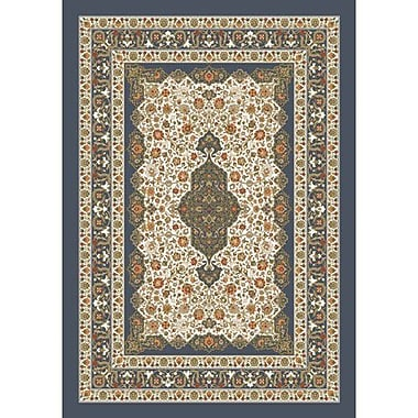 Milliken Pastiche Kashmiran Tiraz Pewter Area Rug; Rectangle 3'10'' x 5'4''
