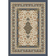 Milliken Pastiche Kashmiran Tiraz Pewter Area Rug; Rectangle 2'1'' x 7'8''