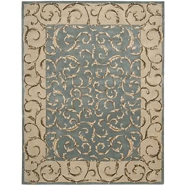 Nourison Versaille Palace Hand-Tufted Aqua Area Rug; 7'6'' x 9'6''