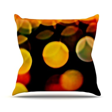 KESS InHouse Lights Throw Pillow; 18'' H x 18'' W