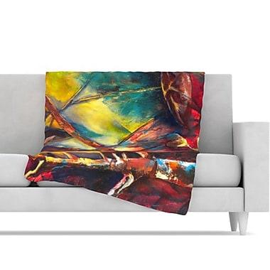 KESS InHouse Growth Fleece Throw Blanket; 80'' L x 60'' W