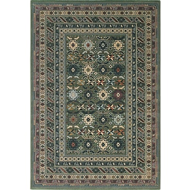 Central Oriental Images Geometric Seagreen Area Rug; Runner 2'3'' x 7'7''