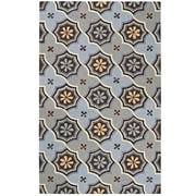 Capel Intrique Blue Medallion Rug; Rectangle 5' x 8'
