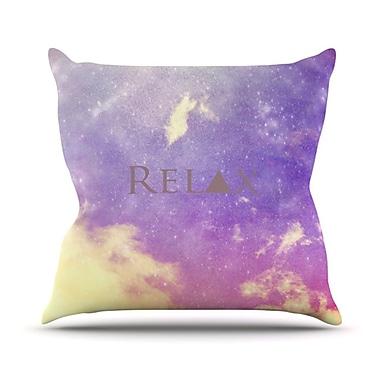 KESS InHouse Relax Throw Pillow; 18'' H x 18'' W