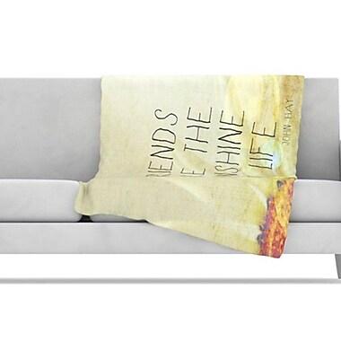 KESS InHouse Friends Sunshine Fleece Throw Blanket; 40'' L x 30'' W