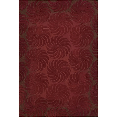 Nourison Contour Hand-Tufted Red Area Rug; 8' x 10'6''