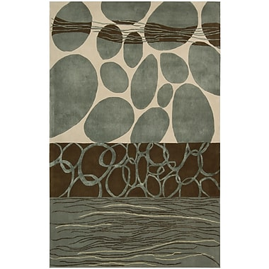 Nourison Dimensions Blue/Brown Area Rug; 3'6'' x 5'6''