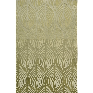 Nourison Contour Hand-Tufted Green Area Rug; 3'6'' x 5'6''