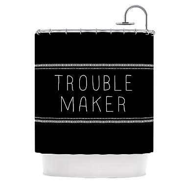 KESS InHouse Trouble Maker Shower Curtain