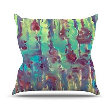 KESS InHouse Splash Throw Pillow; 18'' H x 18'' W