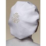 Jacaranda Living French Scroll Cotton Waffle Weave Shower Cap