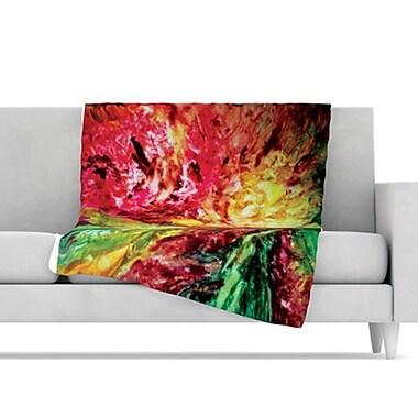 KESS InHouse Passion Flowers I Fleece Throw Blanket; 80'' L x 60'' W