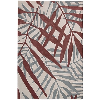 Nourison Contour Hand-Tufted Red/Gray Area Rug; 8' x 10'6''