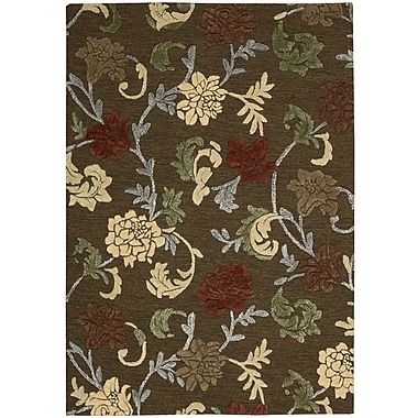 Nourison Sunburst Hand-Tufted Brown Area Rug; 8' x 10'6''