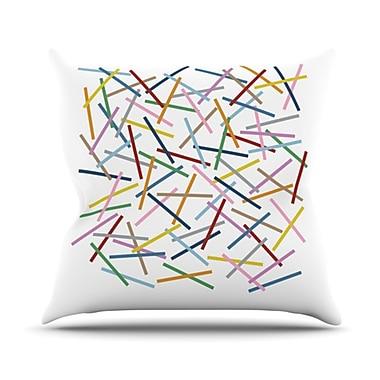 KESS InHouse Sprinkles Throw Pillow; 20'' H x 20'' W