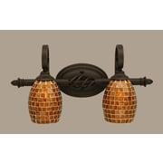 Toltec Lighting Elegante 2-Light Vanity Light; Mosaic