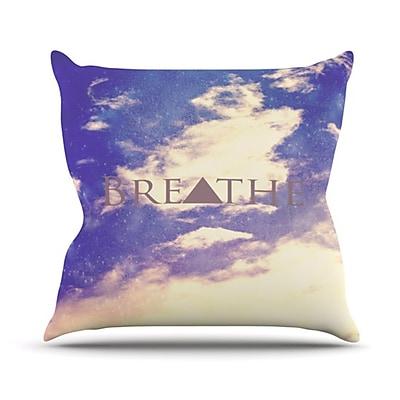 KESS InHouse Breathe Throw Pillow; 26'' H x 26'' W