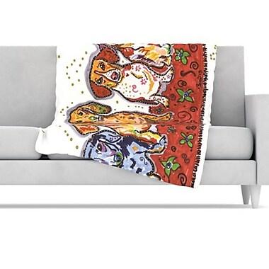 KESS InHouse Maksim Murray Enzo Ruby & Willy Fleece Throw Blanket; 80'' L x 60'' W
