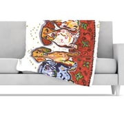 KESS InHouse Maksim Murray Enzo Ruby & Willy Fleece Throw Blanket; 60'' L x 50'' W