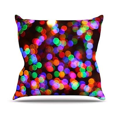 KESS InHouse Lights II Throw Pillow; 18'' H x 18'' W