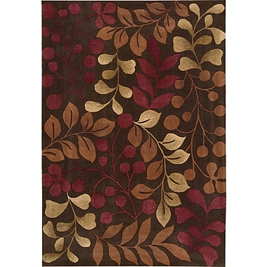 Nourison Contour Hand-Tufted Red/Brown Area Rug; 7'3'' x 9'3''