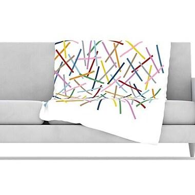 KESS InHouse Sprinkles Fleece Throw Blanket; 80'' L x 60'' W