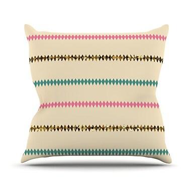 KESS InHouse Diamonds Throw Pillow; 18'' H x 18'' W
