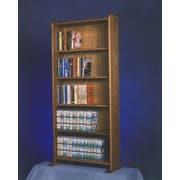 Wood Shed 500 Series 200 DVD Multimedia Storage Rack; Natural
