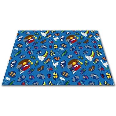 Kid Carpet Noah's Animal Friends Area Rug; Square 12'