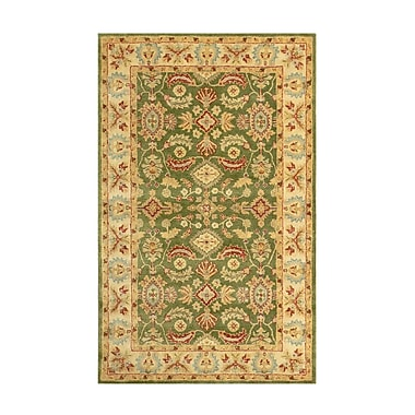 MOTI Rugs Windsor Green/Tan Area Rug; 3'6'' x 5'6''