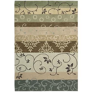 Nourison Contour Hand-Tufted Beige/Green Area Rug; 8' x 10'6''